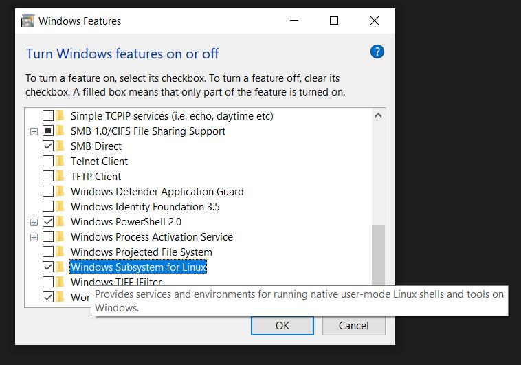 How to setup WSL (Bash on Ubuntu) — bioGUI documentation